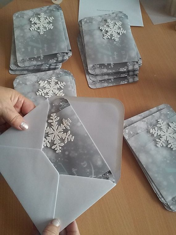 Winter Wedding Ice Queen Invitation Snowflake