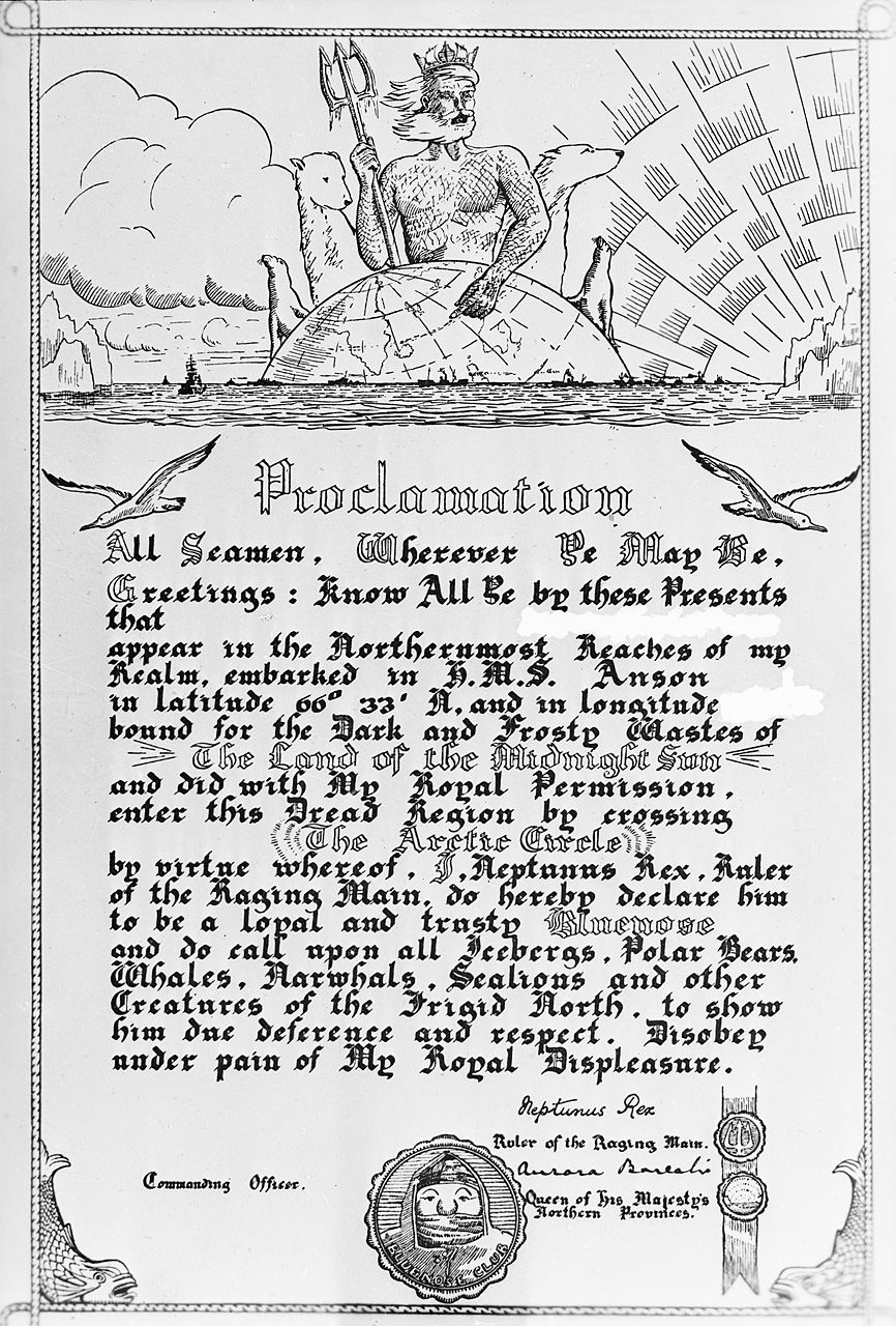 Order Of The Blue Nose Certificate Awarded To Sailors To Mark