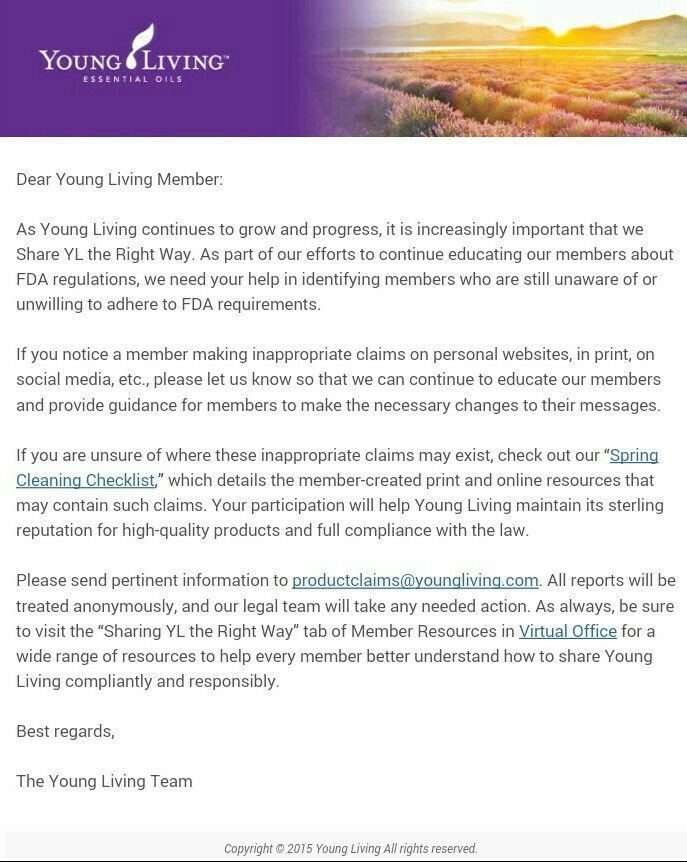 Letter From Yl  Yleo Users  Fyi