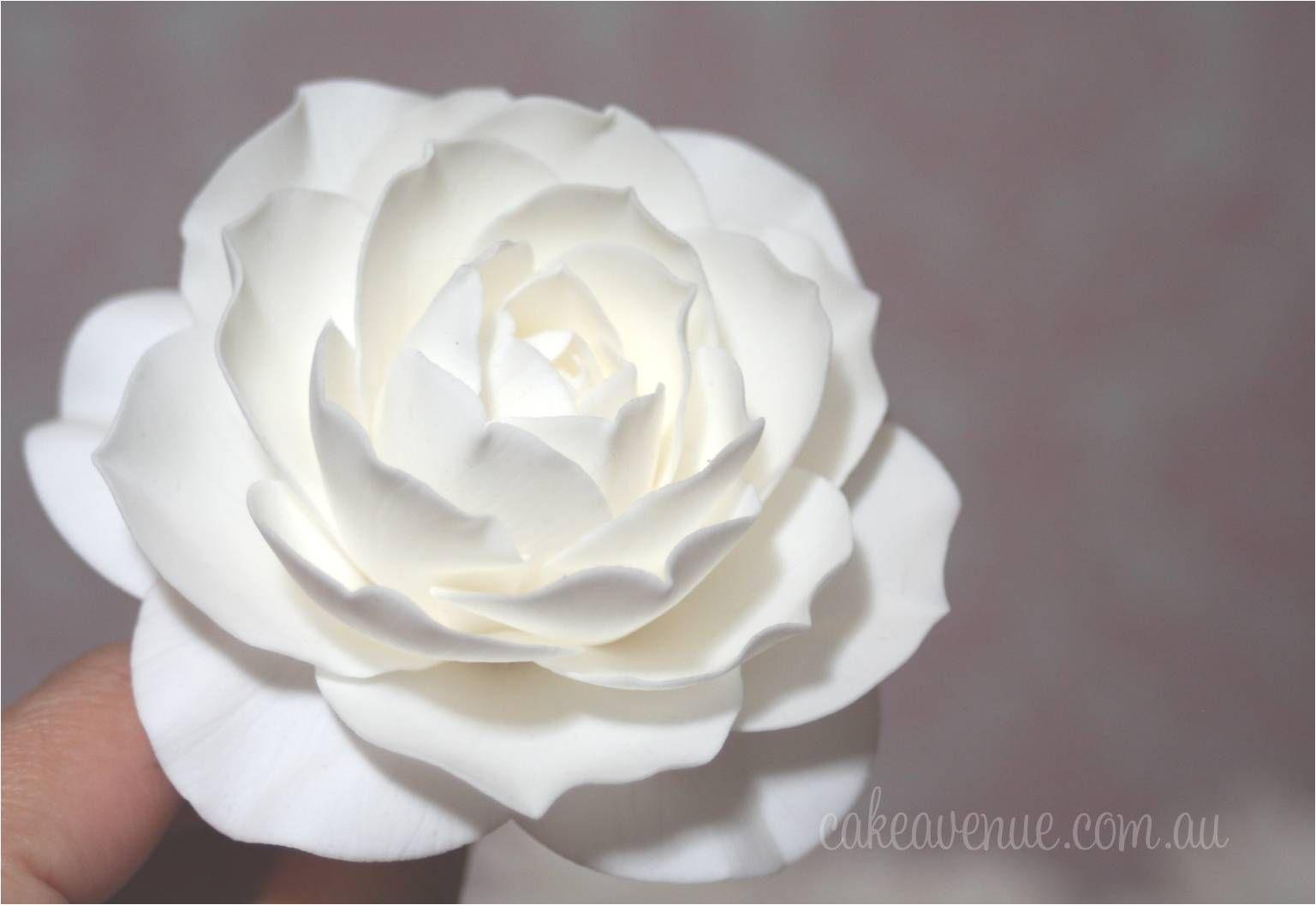 Camellia Sugar Flower Gumpaste Camellia Sugar Flowers Flower Cake Cake Decorating Tutorials