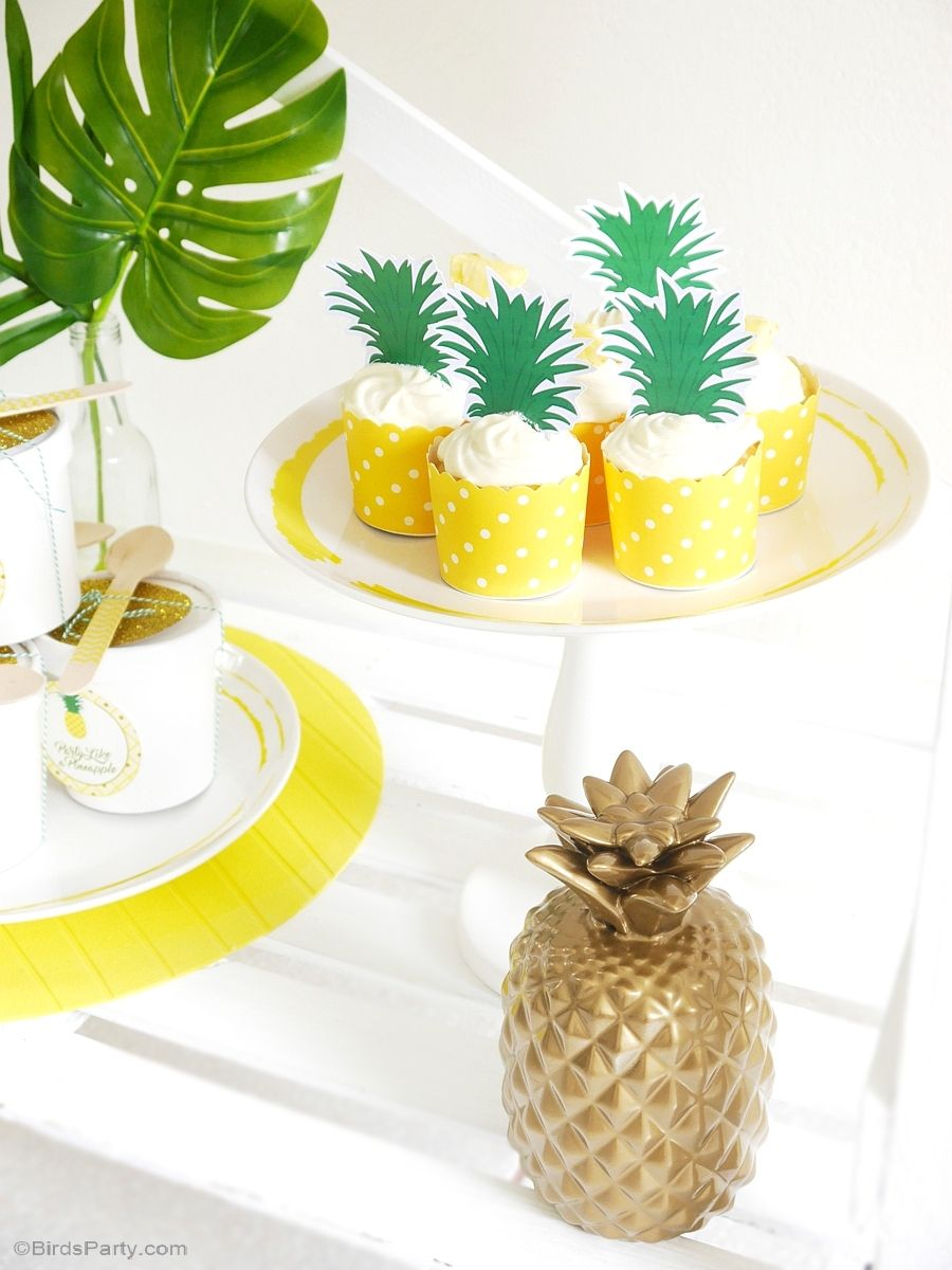 Diy Dinner Party Ideas Part - 32: Party Like A Pineapple Birthday Party Ideas - Tropical DIY Decorations,  Printables, Dinner Party