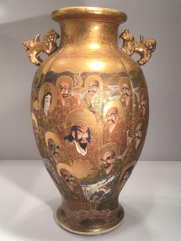 Pin by prudencio rodrguez on satsuma vases pinterest japanese satsuma vase japanese pottery vases reviewsmspy