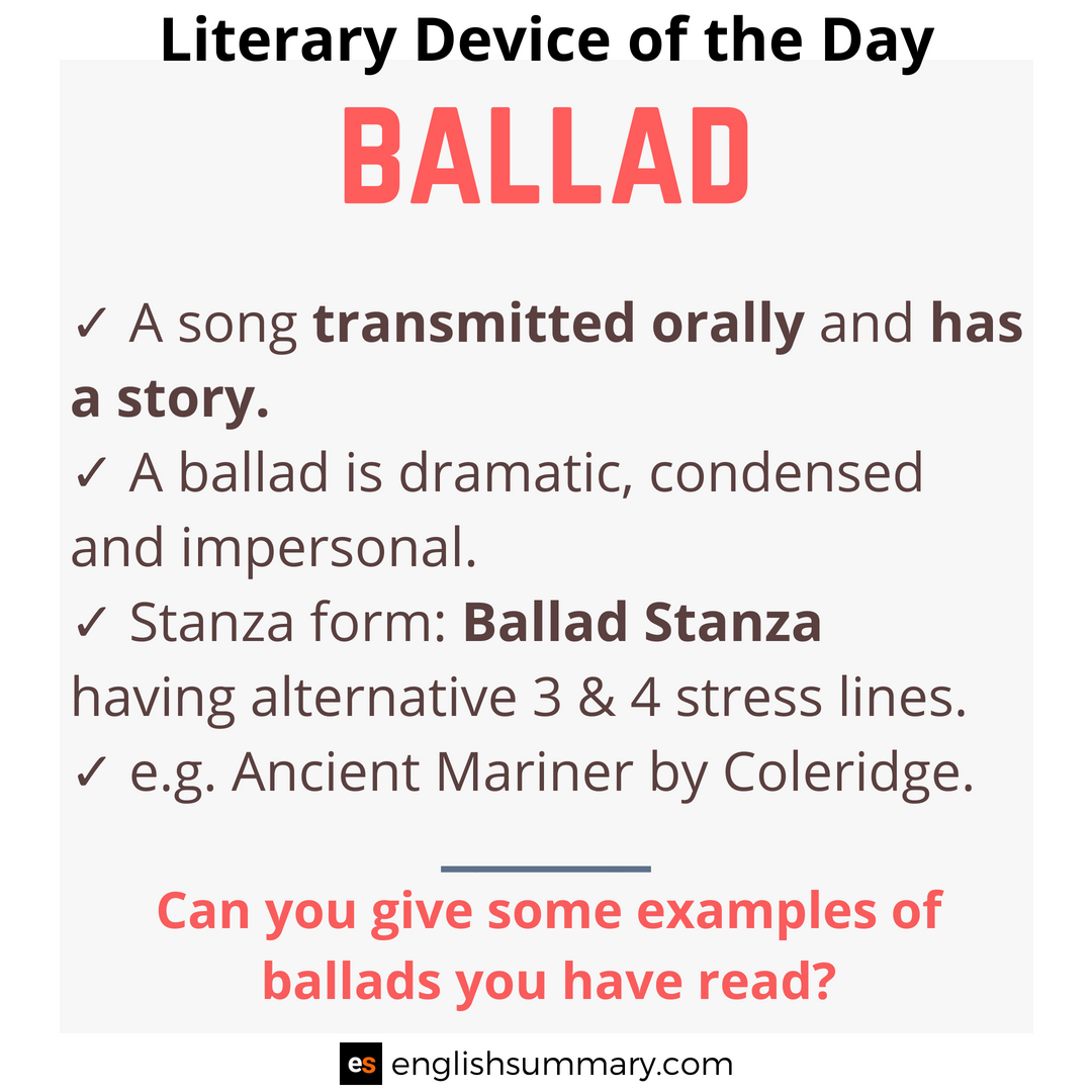 Ballad Meaning In English