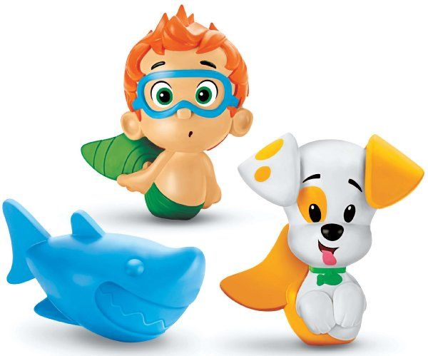 Fisher-Price Nickelodeon's Bubble Guppies Bath Squirters: Nonny, Bubble Puppy and Shark:Amazon:Toys & Games