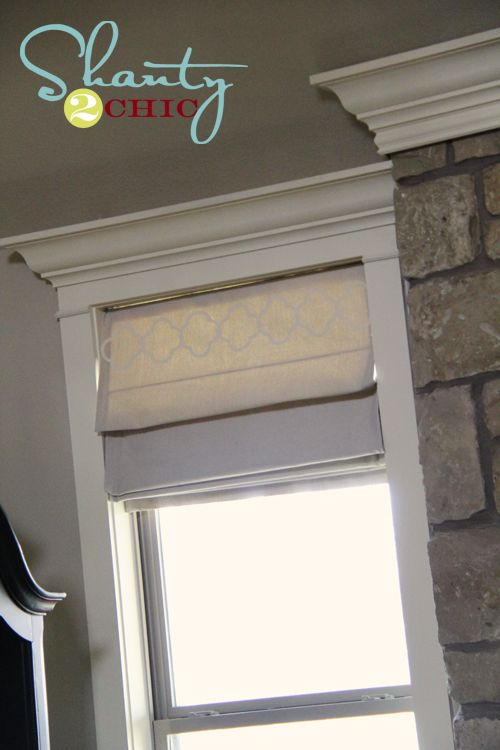 DIY lined roman shades. A little more complex that the ones you make from regular blinds, but I think the end product would turn out much nicer!