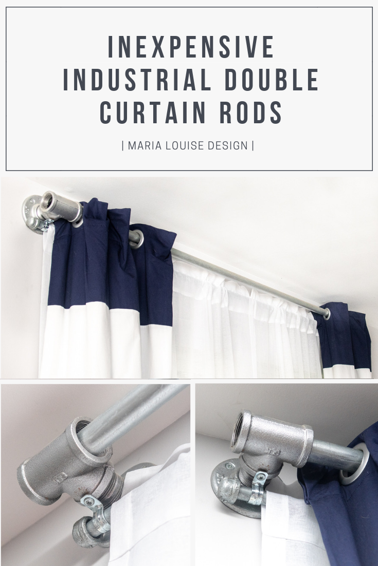 How To Make An Inexpensive Industrial Double Curtain Rod Double