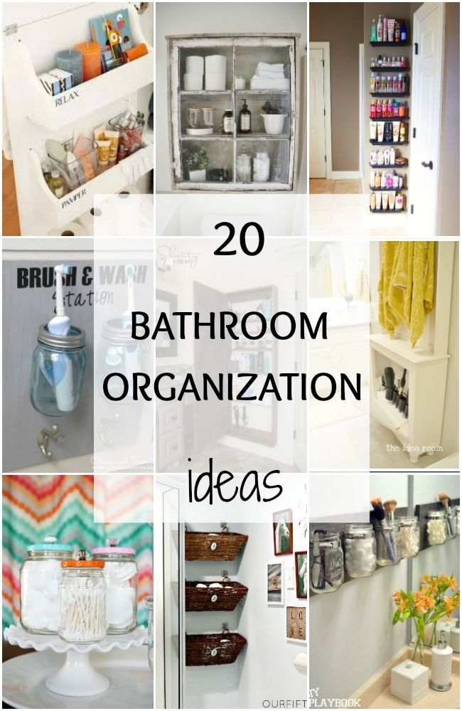 20 bathroom organization ideas hacks home makeover bathroom organization diy bathroom. Black Bedroom Furniture Sets. Home Design Ideas