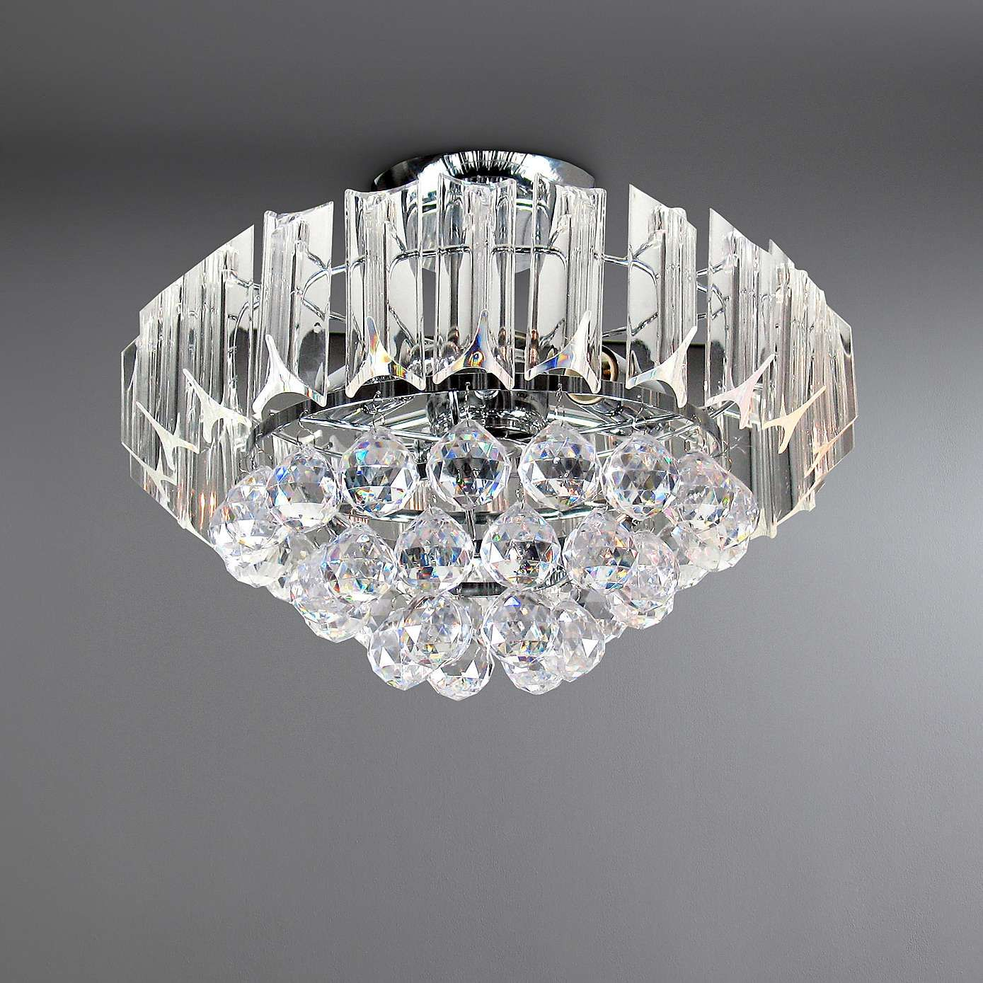 Venetian Acrylic Flush Fitting Lounge Ceiling LightsDen