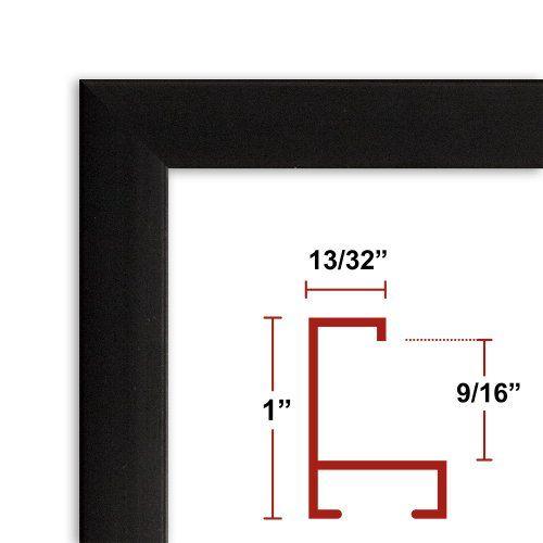 26 x 36 Black Poster Frame Profile: #93 Custom Size Picture Frame ...