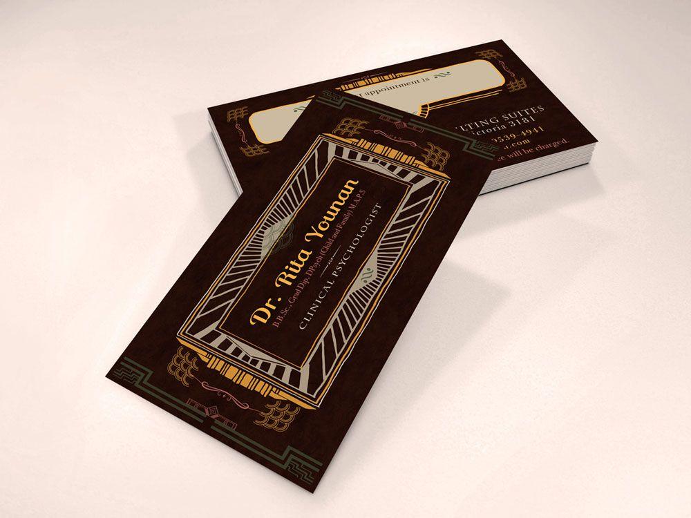 Art Deco Business Card Design. | Communication & Graphic Design ...