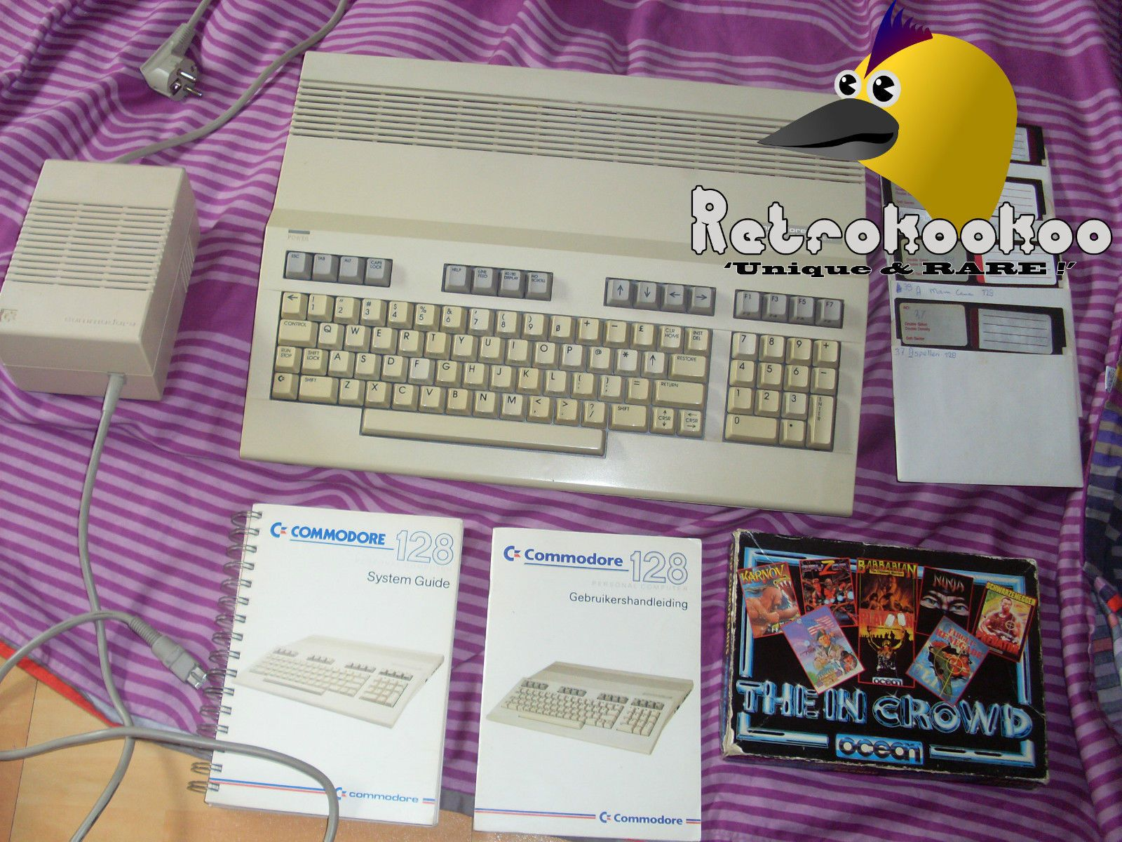 Commodore 128 C128 with Manuals Software Games PAL Version Working
