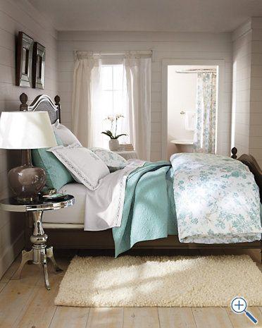 Aqua and neutral Bedroom idea | Bedroom decor for couples ...