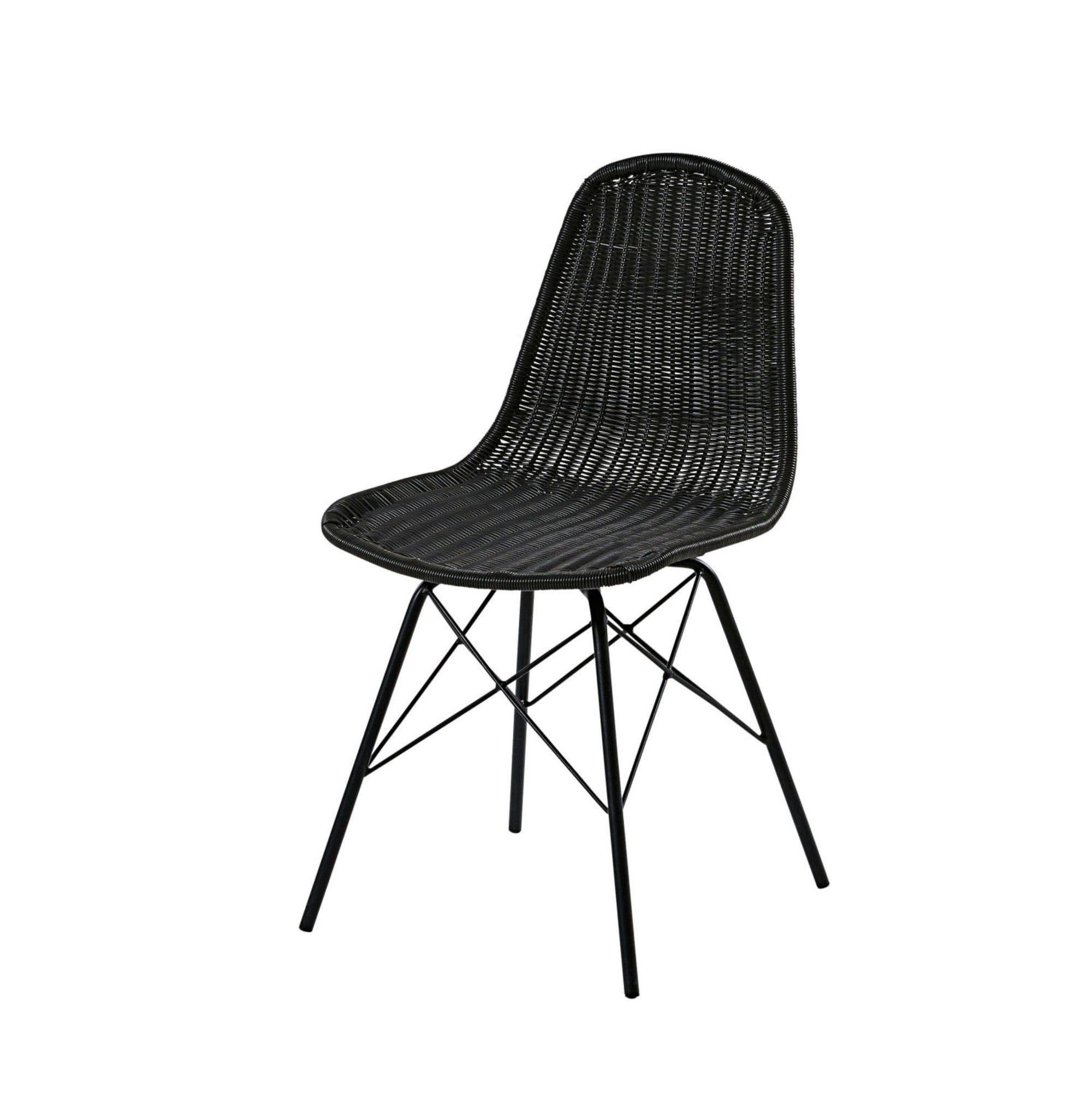 Gartenstuhl Aus Stahl Und Geflochtenem Kunstharz In Schwarz Beckett Garden Chairs Resin Wicker Outdoor Chairs