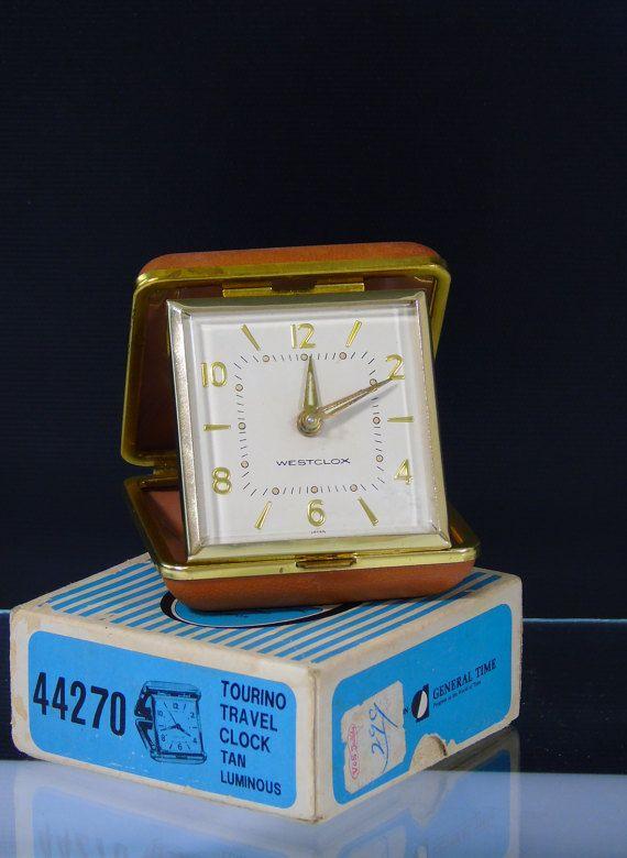 Westclox Japan Wind Up Travel Alarm Clock Tourino 44270 Tan Clocks