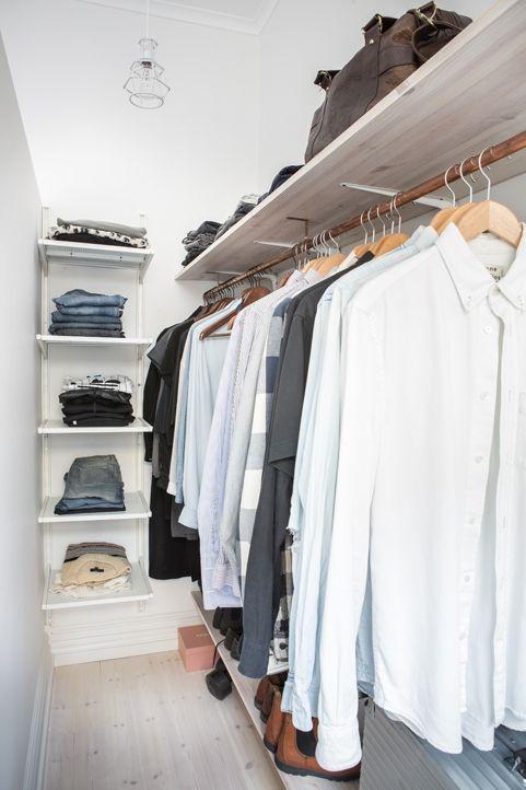 Smalle DIY inloopkast in slaapkamer - Inloopkast, Slaapkamer en ...