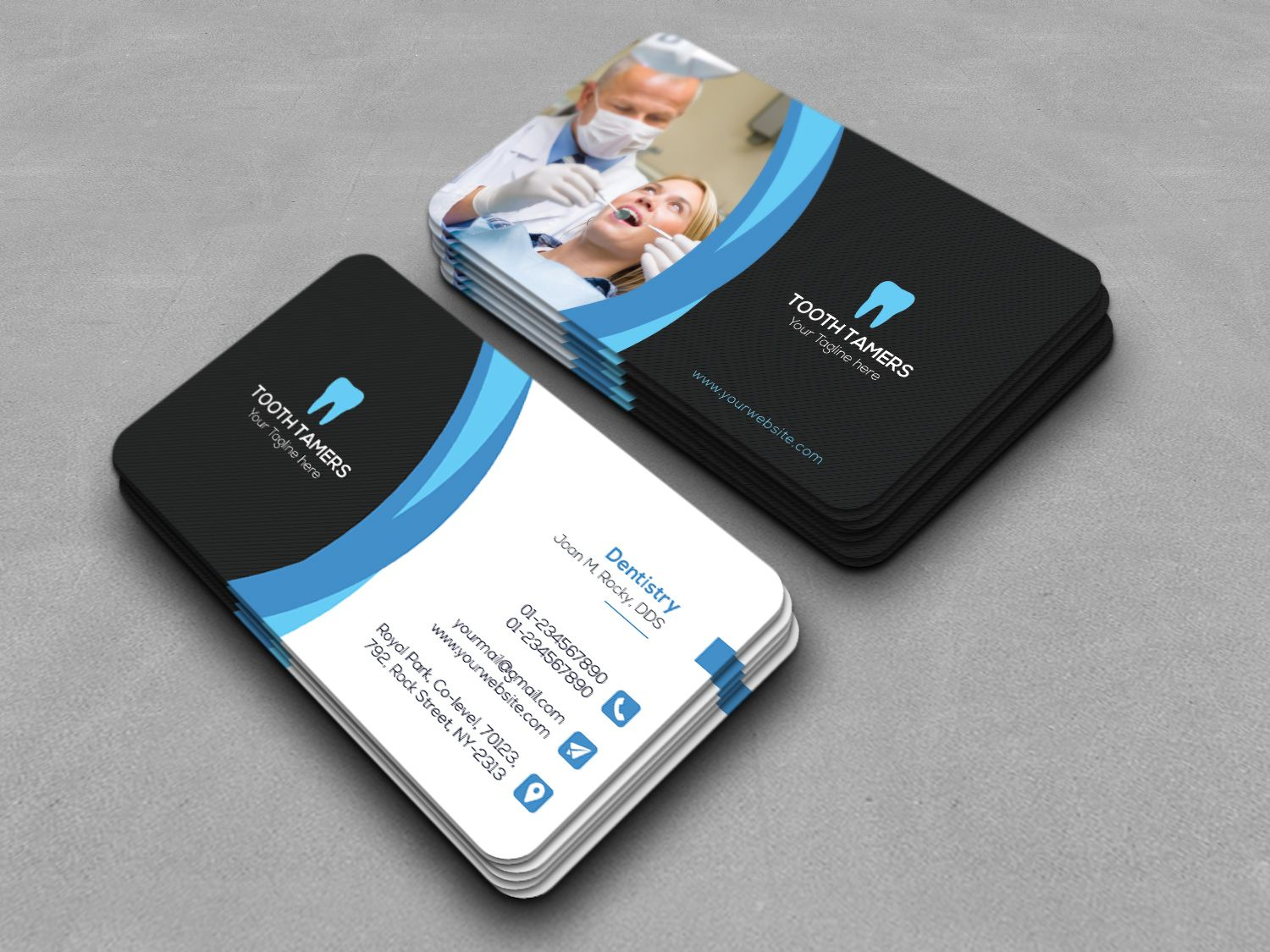 This is a dental business card template this template download this is a dental business card template this template download contains a 300 dpi print ready cmyk psd files all main elements are editable and colourmoves
