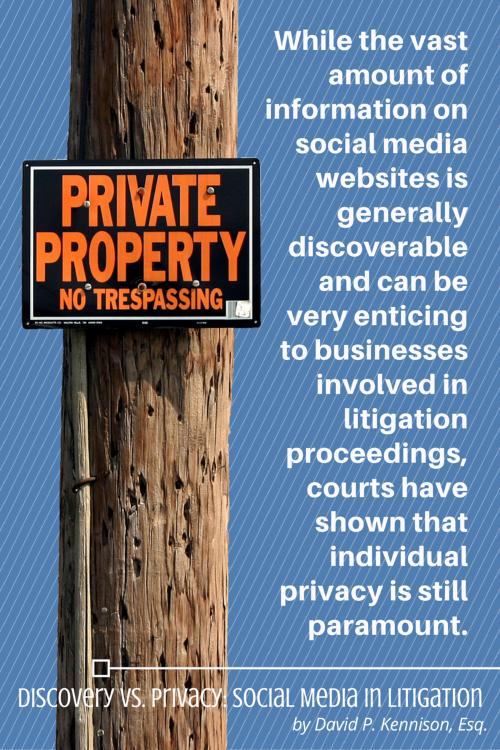 Discovery vs. Privacy: Social Media in Litigation