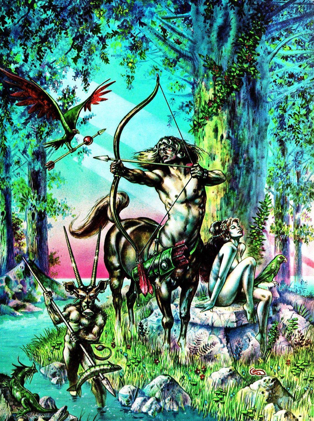 clyde caldwell Centaur's Idol Fantasy art, Science