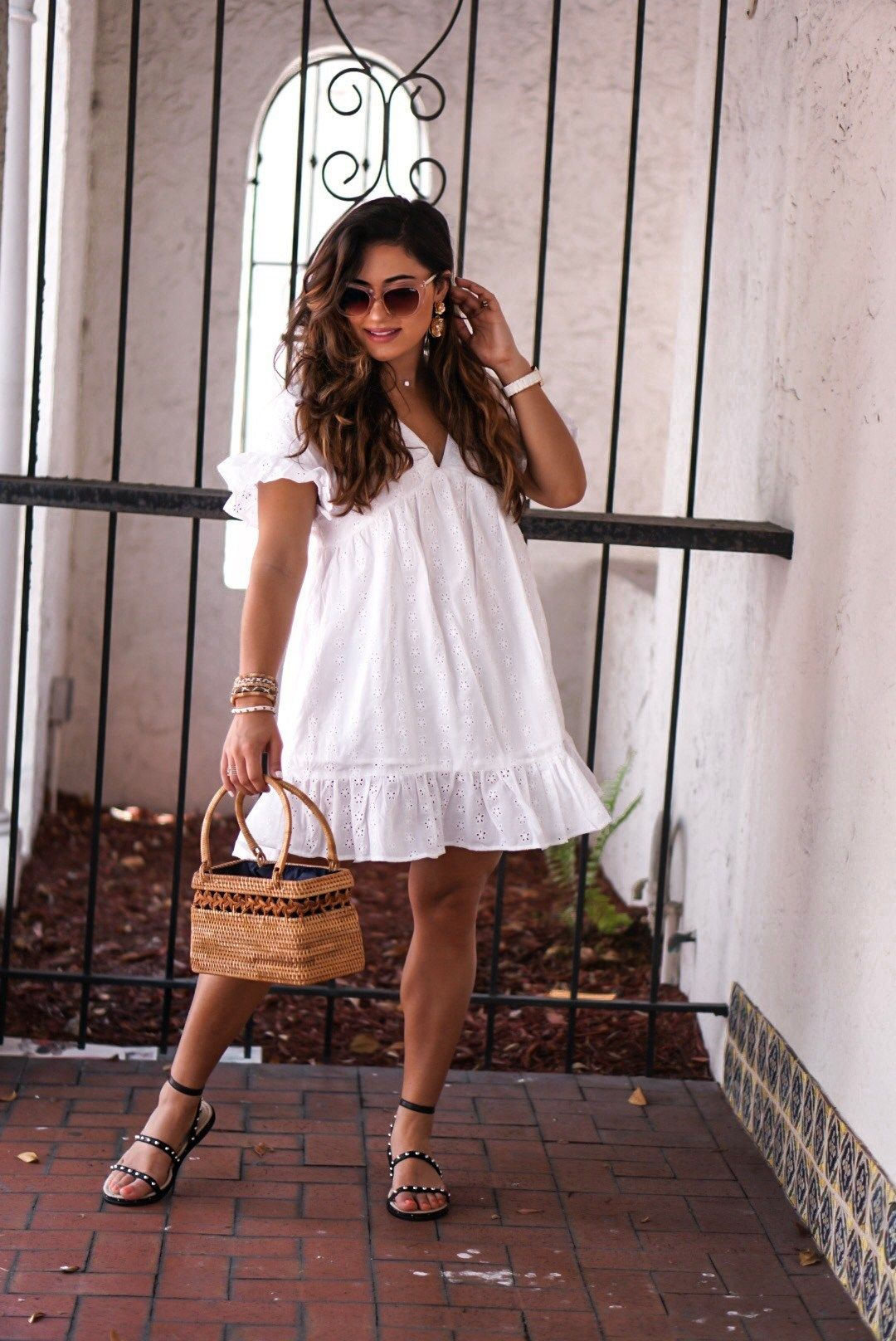 Affordable White Summer Sun Dress Outfit Krista Perez Of Sugar Love Chic White Dress Summer Maxi Dress Outfit Fall Curvy Outfits [ 1616 x 1080 Pixel ]