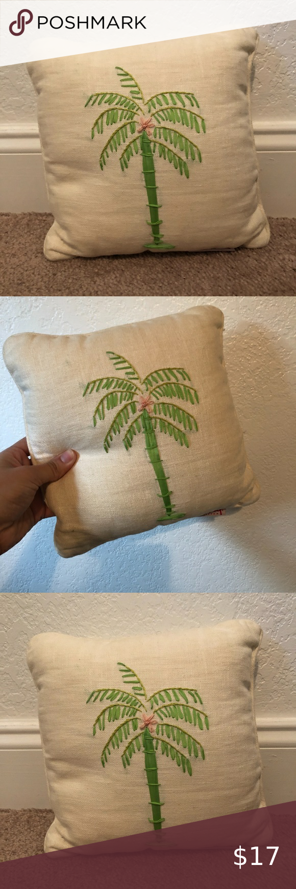10x10 Girls Bedroom: Lilly Pulitzer Mini Palm Tree Decor Pillow 10x10 In 2020