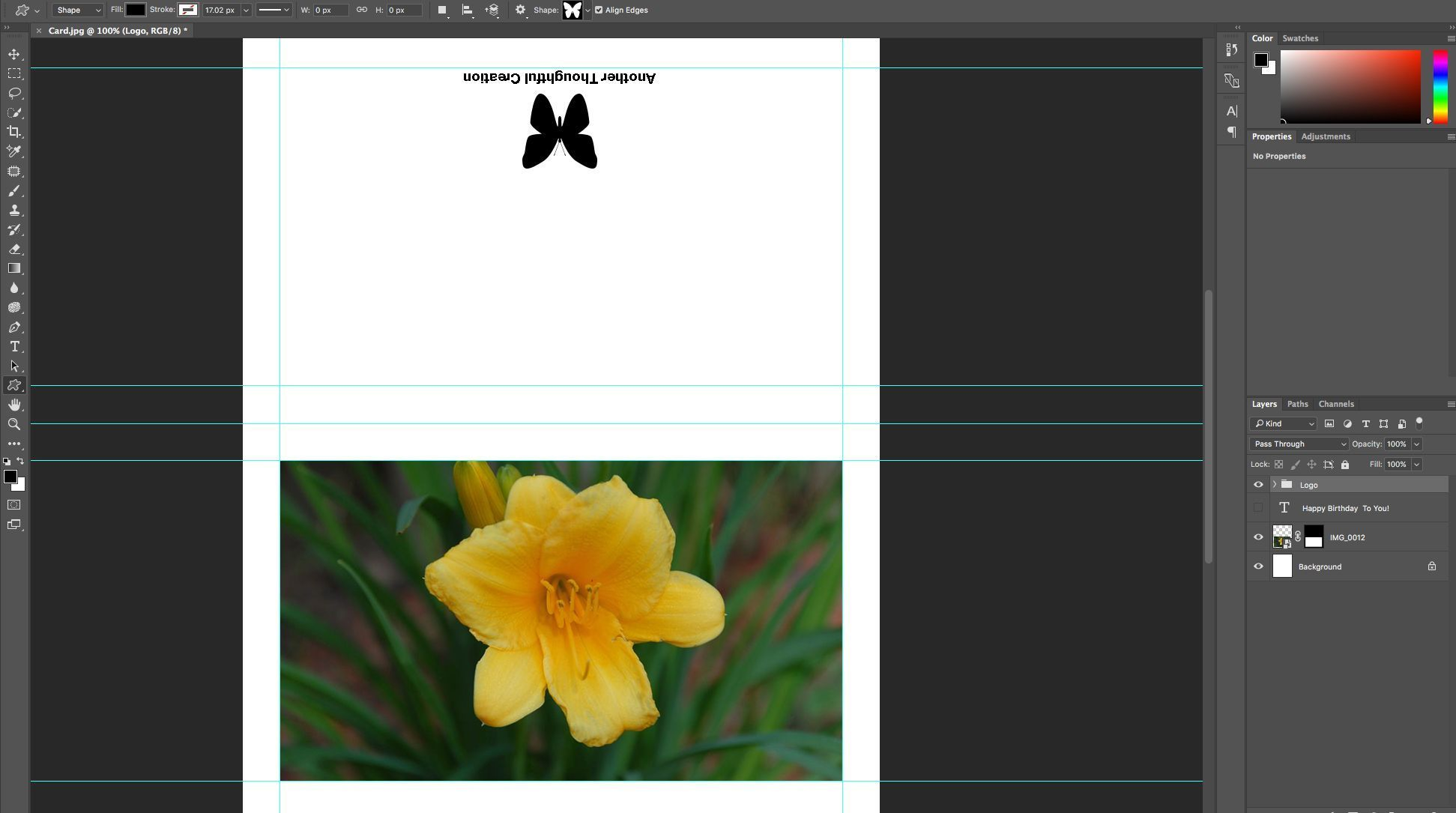 It S Easy To Create A Greeting Card In Photoshop Cc Greeting