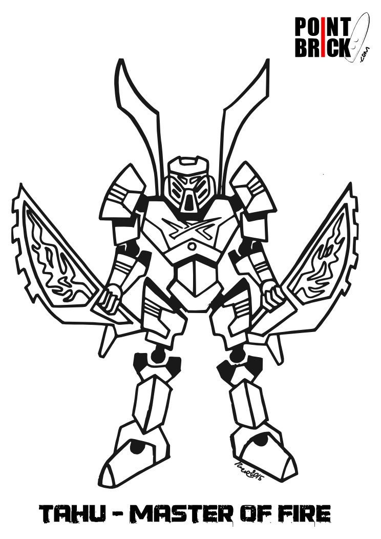 point brick blog: disegni da colorare: lego frozen e bionicle ... - Bionicle Coloring Pages Printable