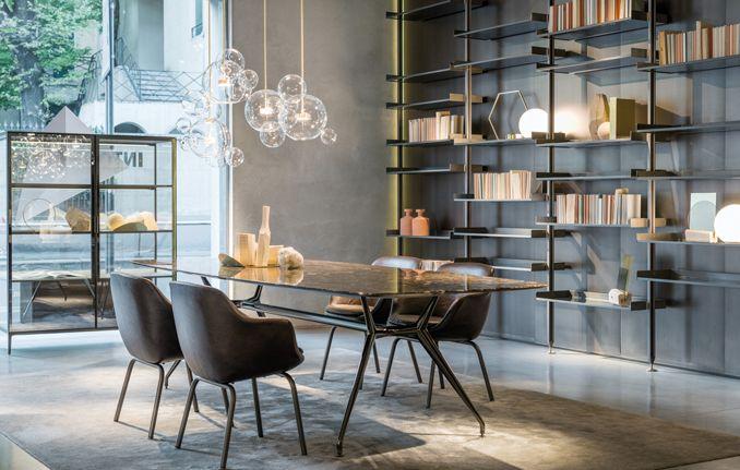 Porte scorrevoli in vetro e alluminio, librerie, cabine