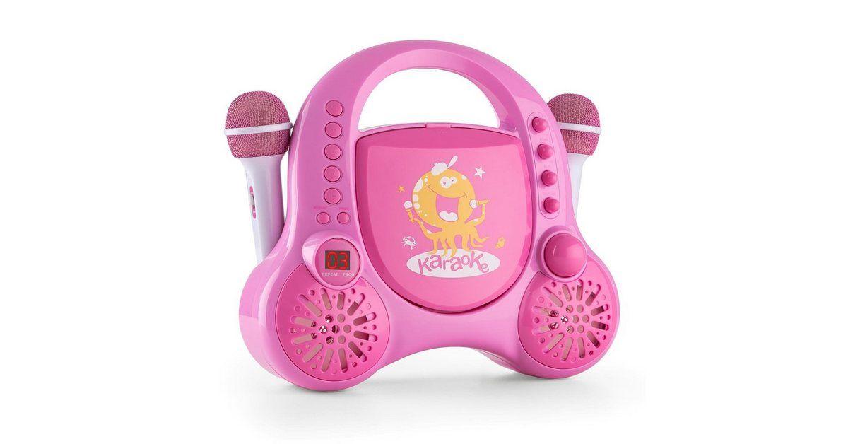 Kinder CD Player Karaoke System AUX 2x Mikrofon Sticker »Rockpocket«