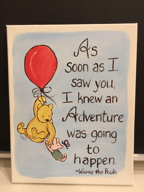 Classic winnie pooh art hand painted 8x10 stretch canvas pooh quote classic winnie pooh art hand painted 8x10 stretch canvas pooh quote adventure baby nursery art baby m4hsunfo