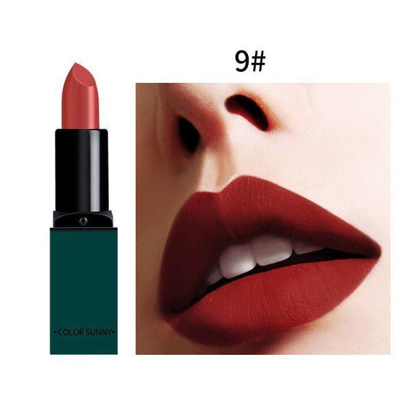 New Fashion Matte Lips Make Up 10 Color Brand Pigment Long Lasting Red Nude Velvet Waterproof 2017 New Matte Lipsticks Coametics