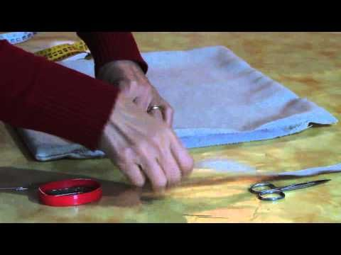 Come Confezionare Un Cuscino Per Sedia.Come Confezionare Una Federa Youtube Varie Tessuto Love Sewing