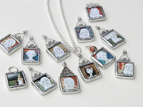 Soldered glass pendant necklaces glass pendants pendants and soldered glass pendants google search aloadofball Images