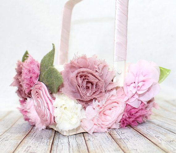 f7225810f3 Flower Girl Basket   Pink Flower Girl Basket   Mauve Flower Girl Basket   Blush  Flower Girl Basket   Flower Girl Basket covered in flowers
