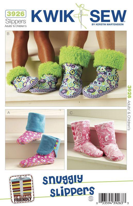 Kwik Sew Snuggly Slippers Pattern | sewing, etc. | Pinterest ...