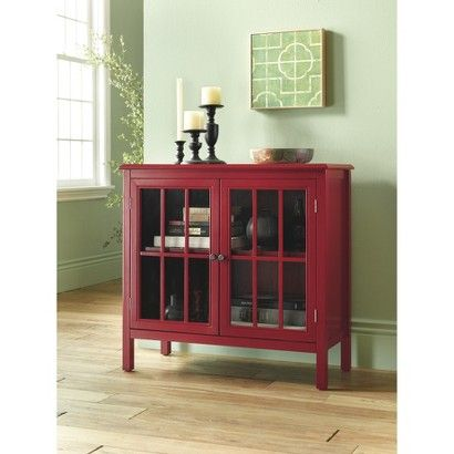 Lovely RED!!!! Target : Threshold Windham Accent Cabinet. Use As A Wine