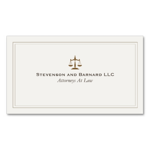 attorneys business card