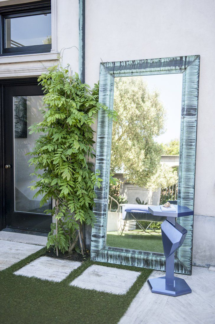 Pin for Later: 14 Stunning Interior Design Details Anyone Can Copy From the SF Decorator Showcase House Place a Mirror Outside