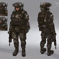 Soldiers 01 by Kevin Prangley on ArtStation.