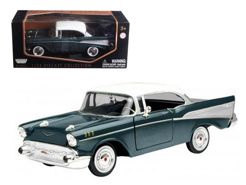 1957 Chevrolet Bel Air Green 1 24 Diecast Model Car By Motormax