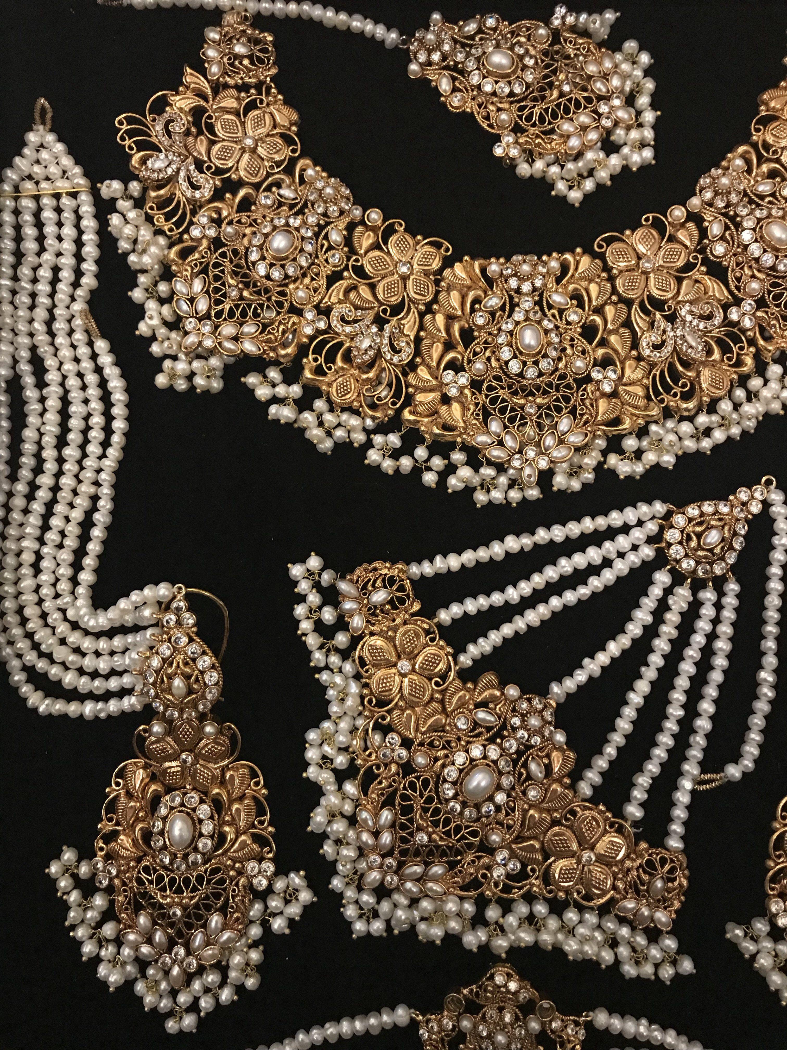 Wedding jewelry Pakistan Gold necklace indian bridal