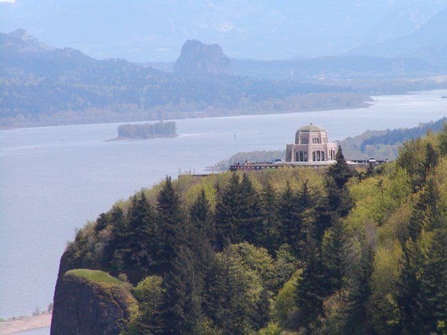 Crown Point Vista House on the Columbia River Gorge, was built in 1917 and still provides an amazing viewpoint for drivers along the Columbia River Historic Highway.