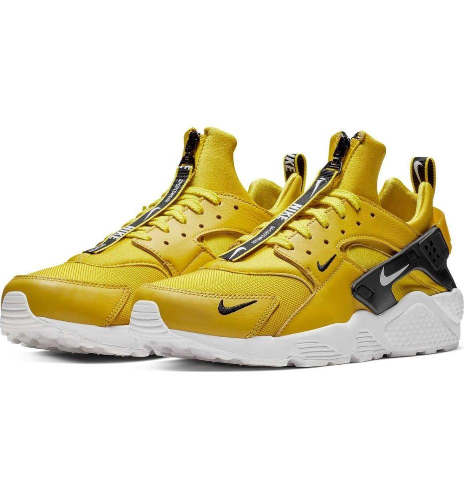 6134fc6028b9 Air Huarache Run Premium Zip Sneaker black  yellow  fashion  clothing   shoes  accessories  mensshoes  athleticshoes (ebay link)