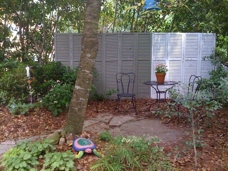 Shutters Repurposed Outdoors Patio
