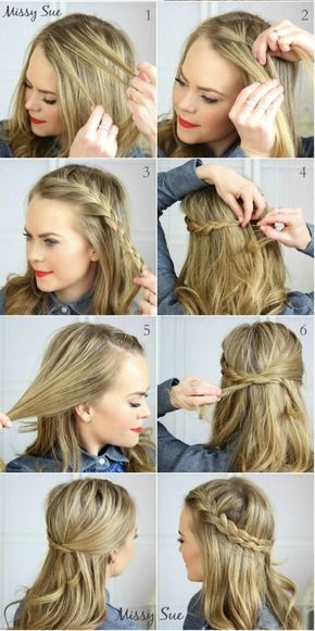 Easy Hairstyles For Medium Length Hair Extraordinary 18 No Heat Hairstyles  Everyday Hairstyles Woman Hair And African