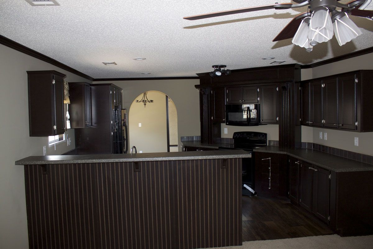 Single wide mobile home interiors single wide 1 for Kitchen ideas mobile home
