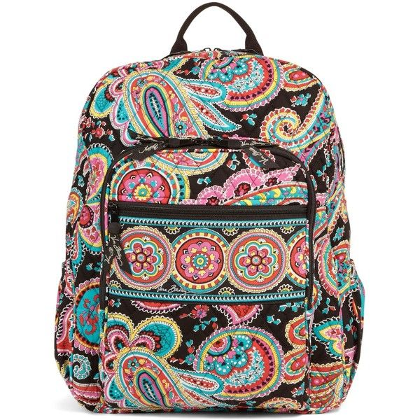 Vera Bradley Campus Backpack in Parisian Paisley ( 109) ❤ liked on Polyvore  featuring bags, backpacks, accessories, parisian paisley, paisley bag, ... c19e59e76e