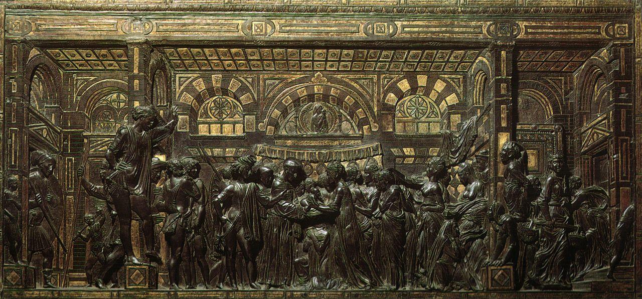 Donatello, Miracolo del neonato che parla - Altare di Sant'Antonio da Padova