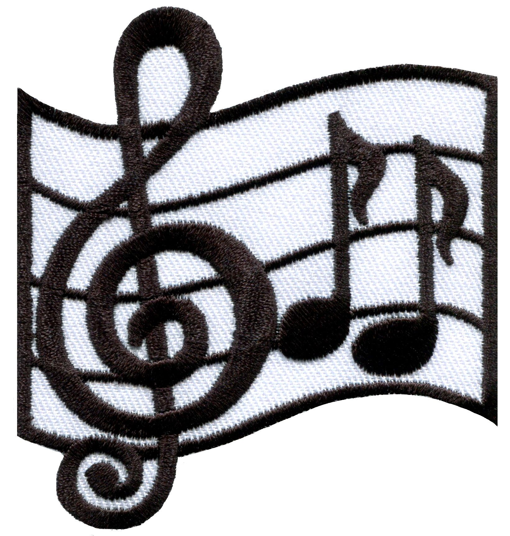 Music Embroidered Iron On Applique Patch Musical Note Cleft Note
