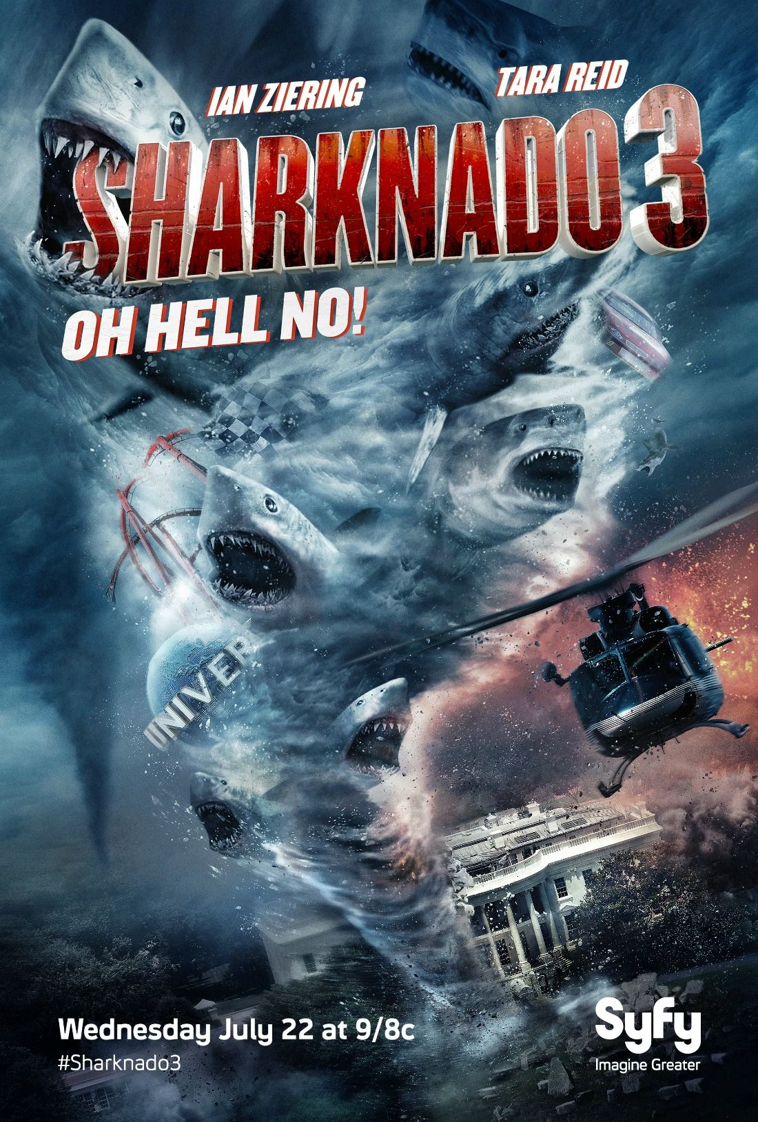 First Official Poster For Sharknado 3 | SyFy movies ...