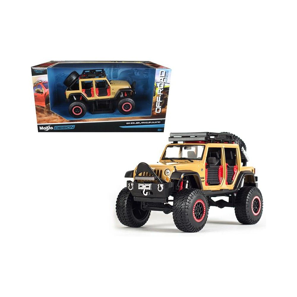 2015 Jeep Wrangler Unlimited Brown Off Road Kings 1 24 Diecast Model Car By Maisto 2015 Jeep Wrangler Unlimited 2015 Jeep Wrangler 2015 Jeep